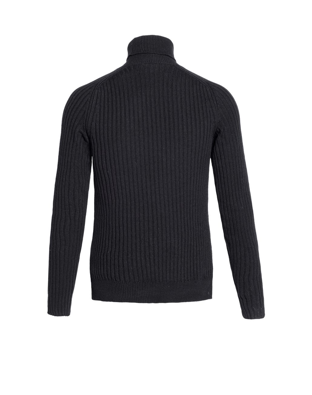 BRIONI Black Cashmere Ribbed Turtleneck Sweater Knitwear Man d