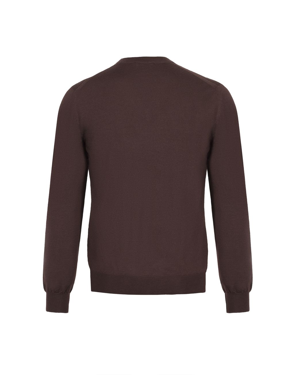 BRIONI Chocolate Brown V- Neck Sweater Knitwear Man d