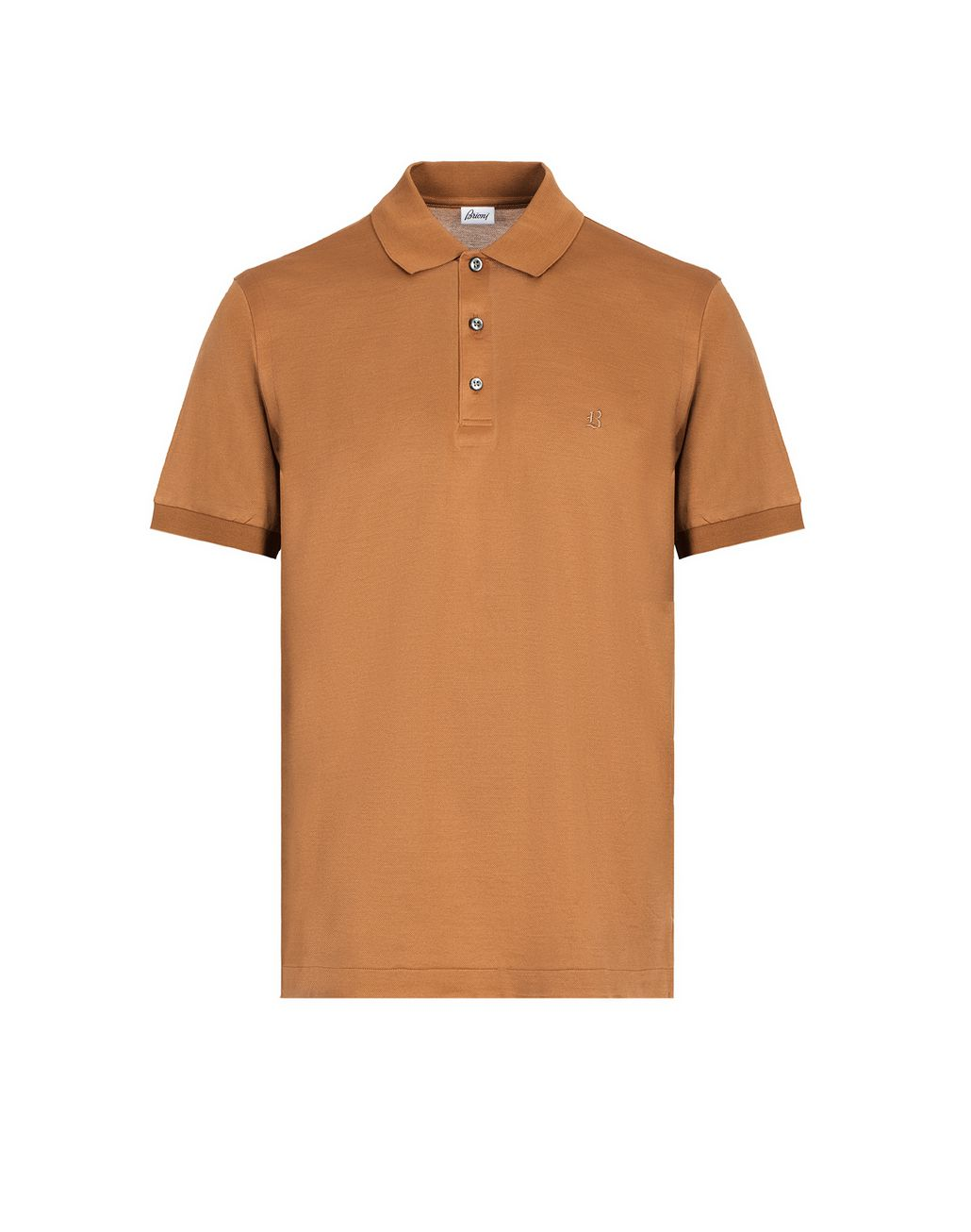 BRIONI Beige Logo Polo Shirt T-Shirts & Polos Man f
