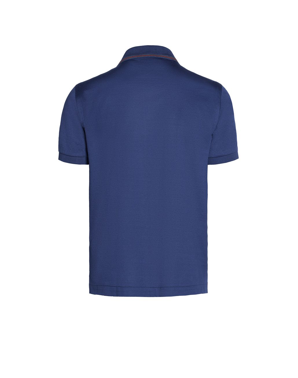 BRIONI Blue Polo Shirt with Silk Knitted Details T-Shirts & Polos U d