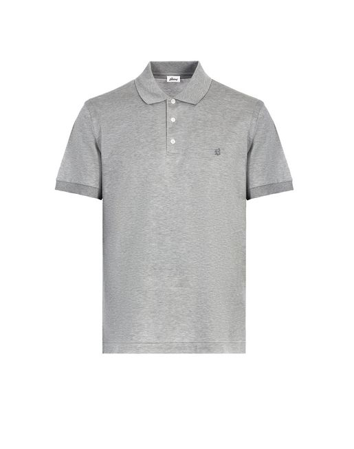 Grey Logo Polo Shirt