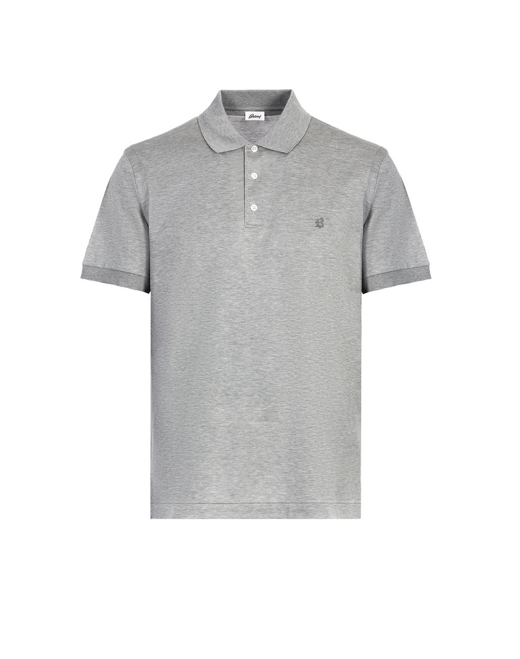 BRIONI Grey Logo Polo Shirt T-Shirts & Polos [*** pickupInStoreShippingNotGuaranteed_info ***] f