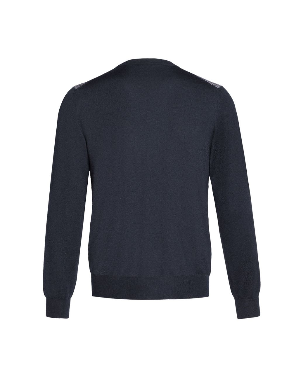 BRIONI Navy V-Neck Micro-Designed Sweater Knitwear Man d