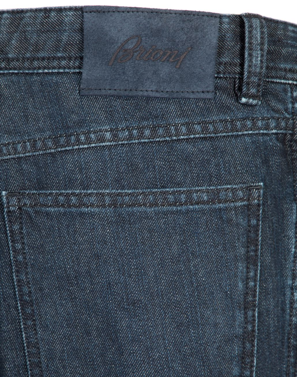 BRIONI Navy Blue Comfort Fit Chamonix Jeans Denim Man d