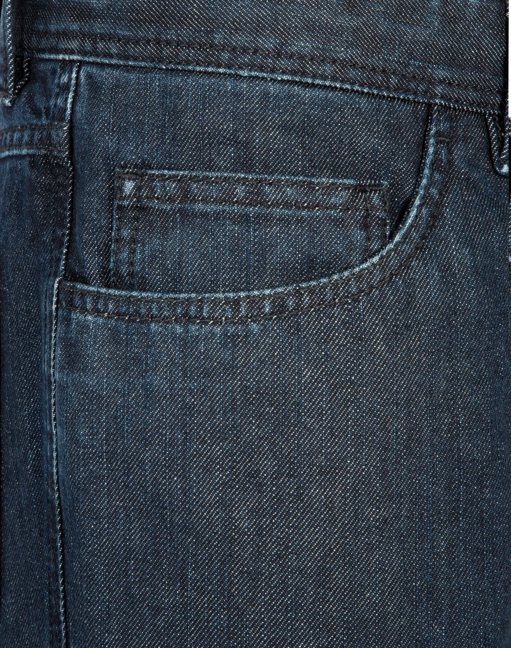 BRIONI Navy Blue Comfort Fit Chamonix Jeans Denim Man e