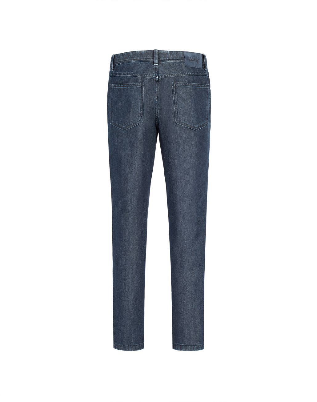 BRIONI Navy Blue Comfort Fit Chamonix Jeans Denim Man r
