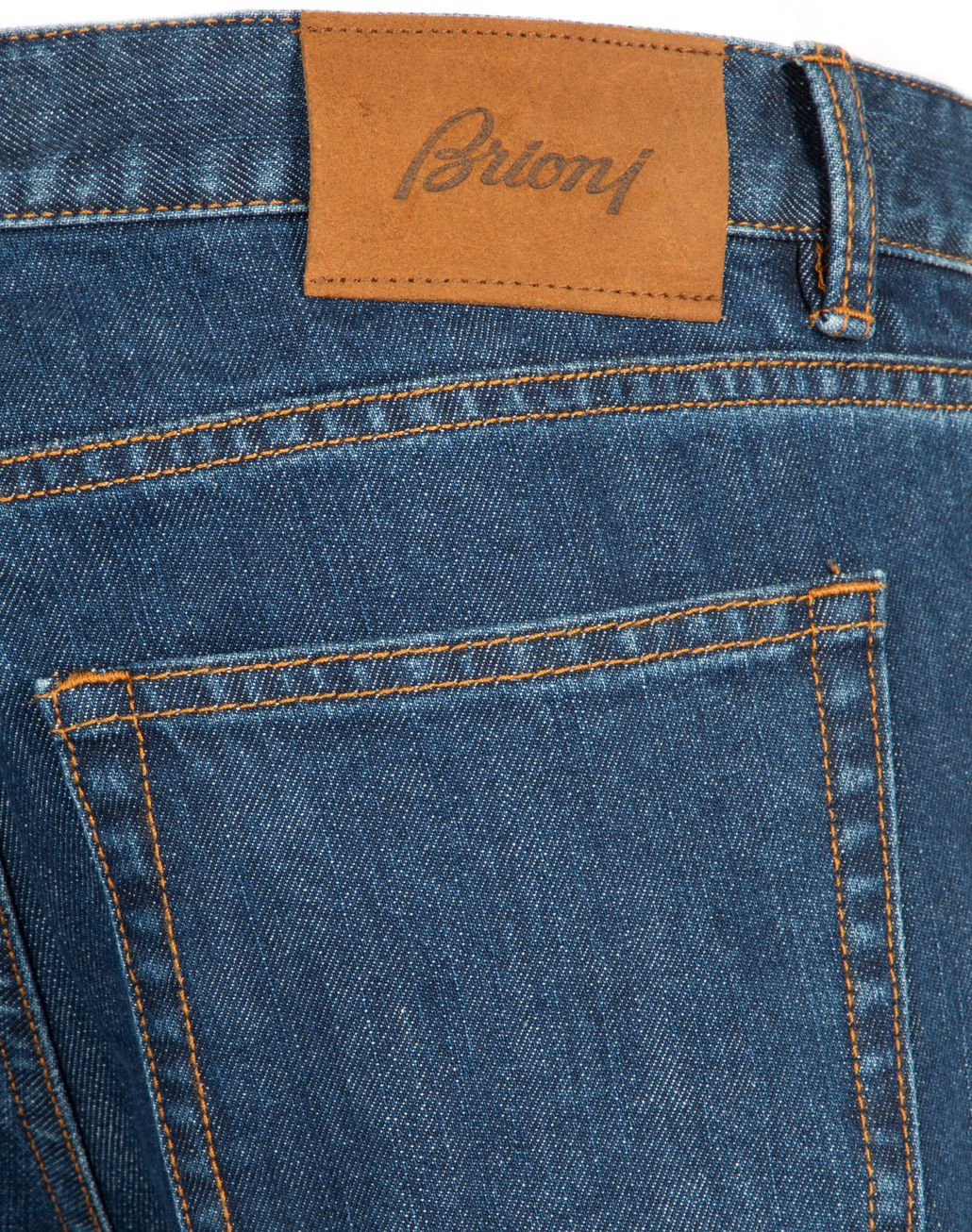 BRIONI Blue Slim Fit Aneto Jeans Denim Man d