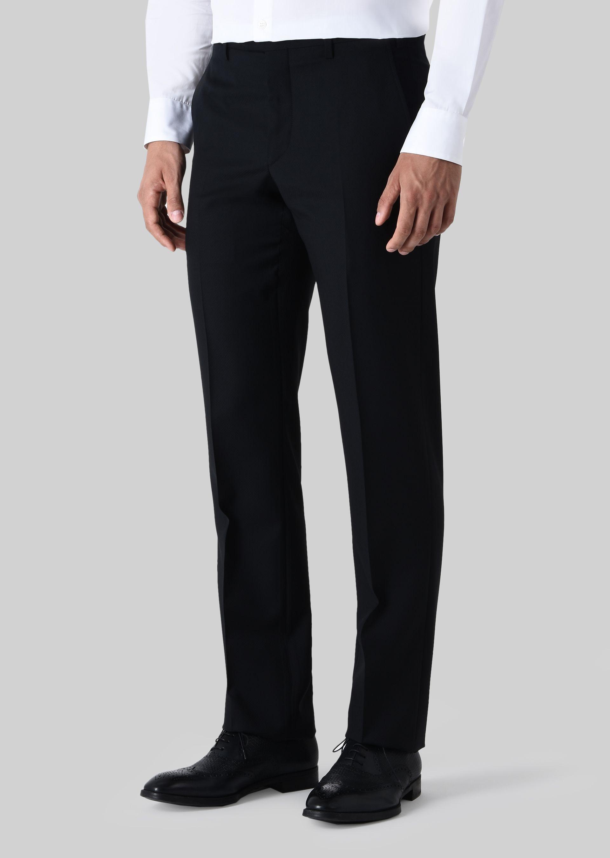 GIORGIO ARMANI TRADER BLU PURE WOOL SUIT Suit U b