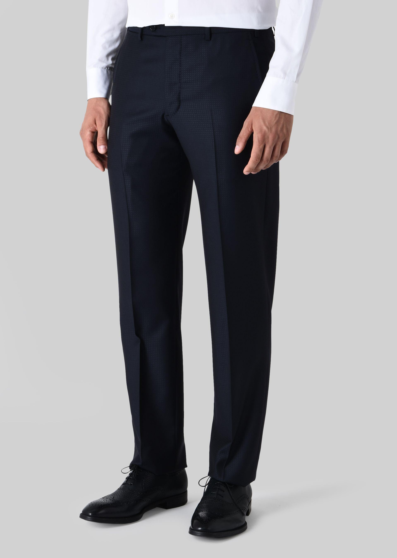 GIORGIO ARMANI スーツ ピュアウールジャカード製 SOFTシリーズ スーツ U b