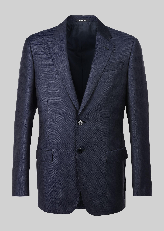 GIORGIO ARMANI スーツ ピュアウールジャカード製 SOFTシリーズ スーツ U d