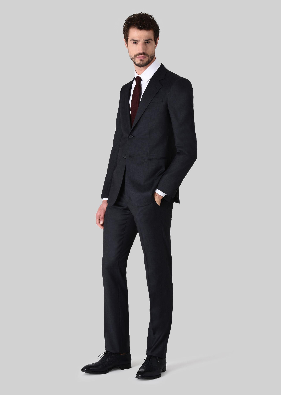 GIORGIO ARMANI TRADER BLU PURE WOOL SUIT Suit U f