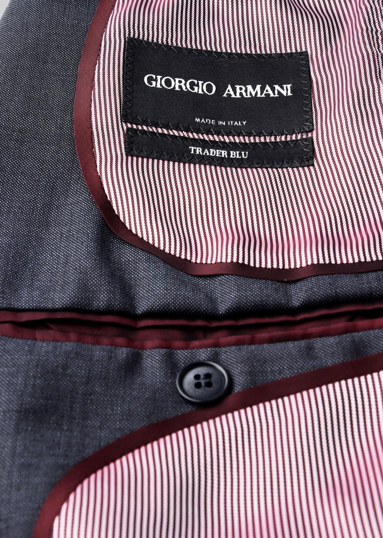 GIORGIO ARMANI TRADER BLU PURE WOOL SUIT Suit U i