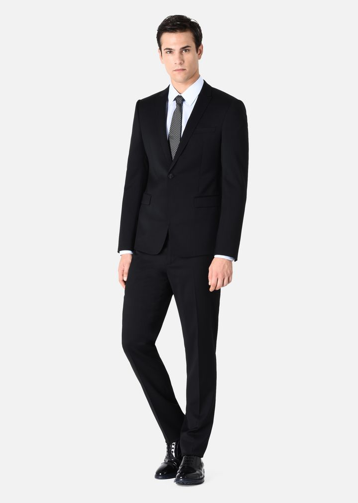 85e298f181 SLIM FIT SUIT LINED IN VIRGIN WOOL | Man | Emporio Armani