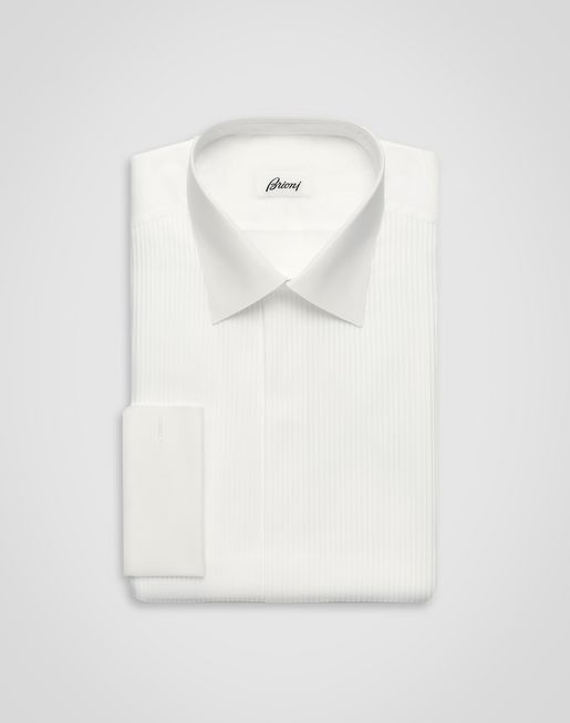 Evening White Comfort Shirt with Plastron