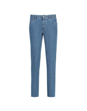'Essential' Light Blue Regular Fit Jeans