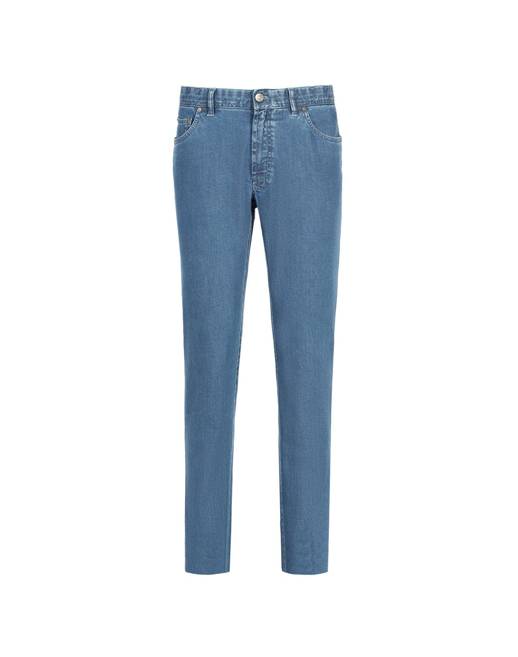 BRIONI Essential' Light Blue Regular Fit Jeans Denim Man f