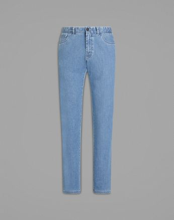 'Essential' Light Blue Comfort Fit Jeans
