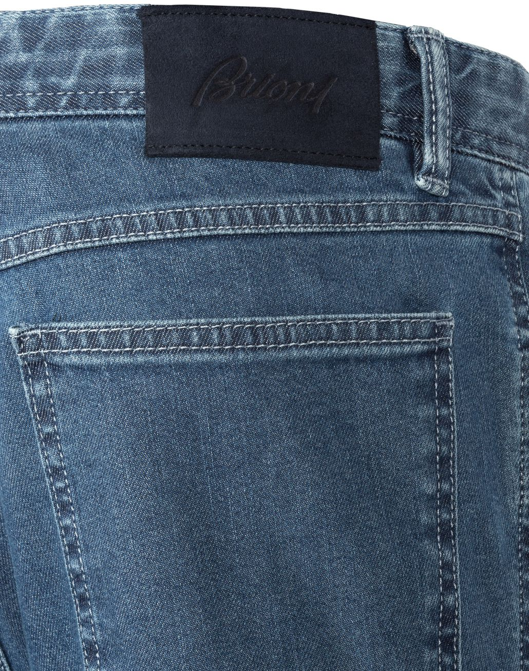 BRIONI Light Blue Comfort Fit Chamonix Jeans Denim Man d