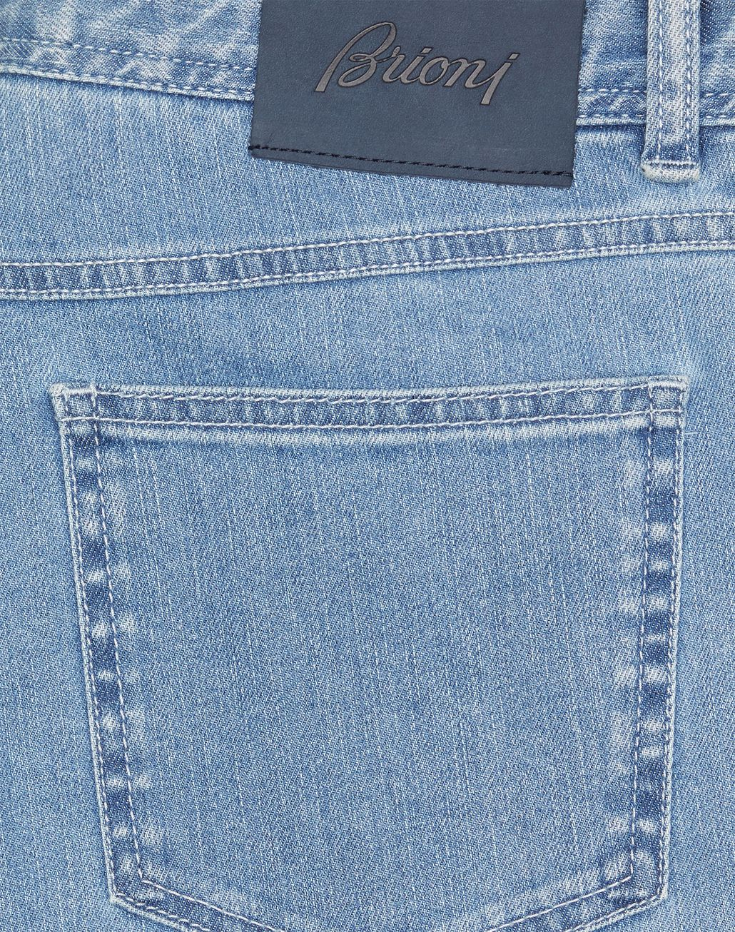 BRIONI Light Blue Comfort Fit Chamonix Jeans Denim Man e