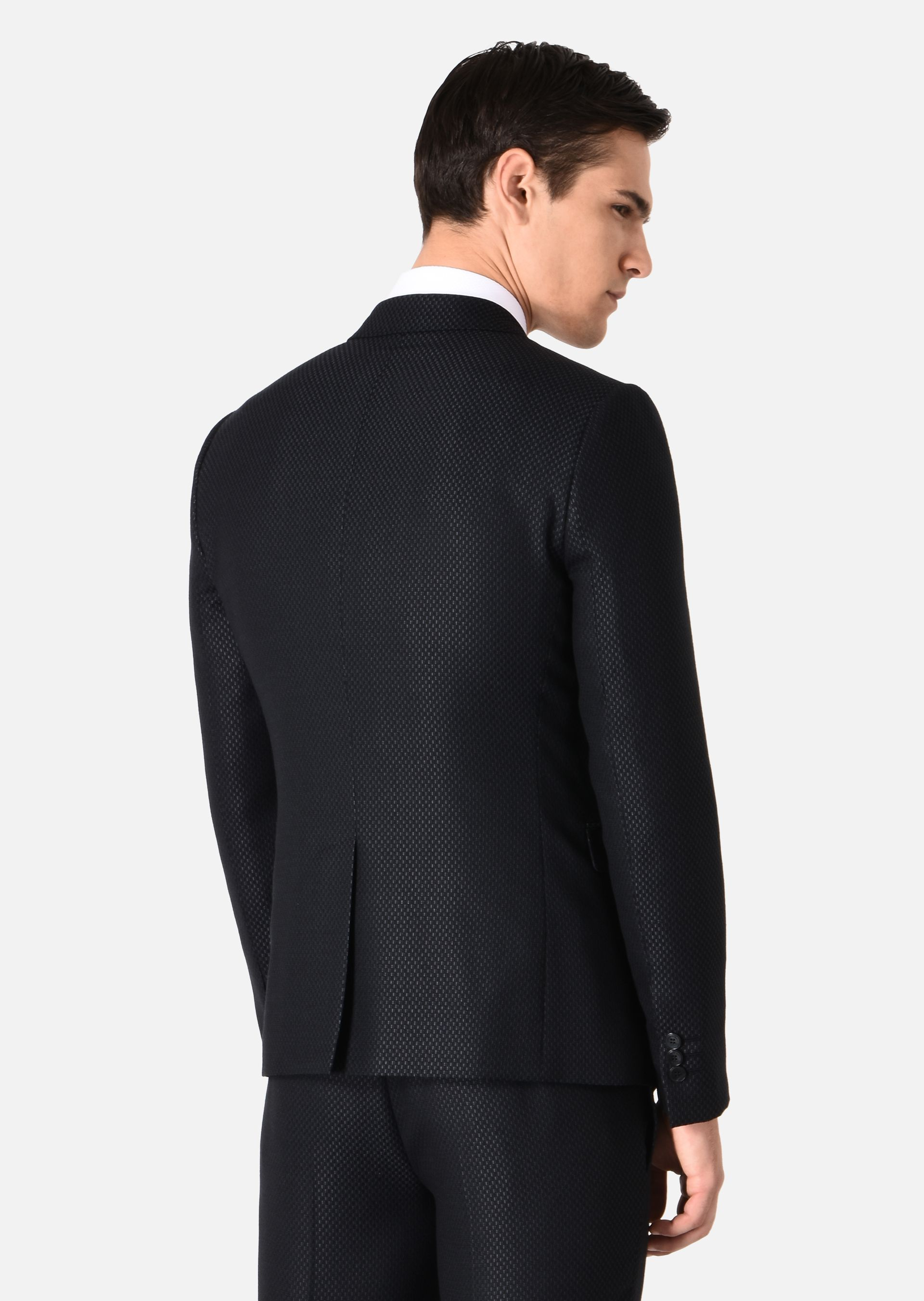 SUIT IN WOVEN WOOL AND SILK for Men |