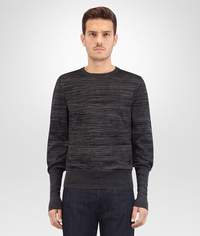 BOTTEGA VENETA DARK GREY SILK COTTON SWEATER Knitwear Man fp