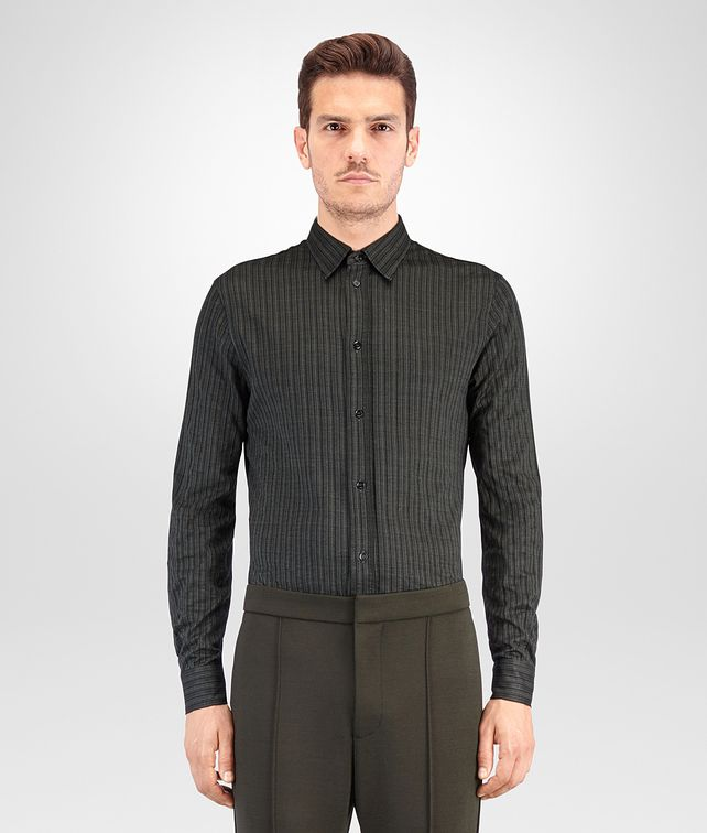 BOTTEGA VENETA MOSS COTTON JERSEY SHIRT Formalwear or shirt Man fp