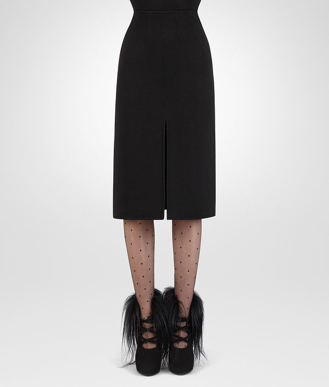 BOTTEGA VENETA NERO DOUBLE CASHMERE SKIRT Skirt or trouser Woman fp