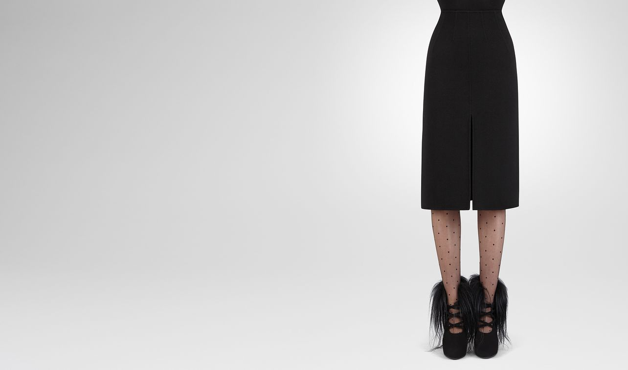 nero double cashmere skirt landing