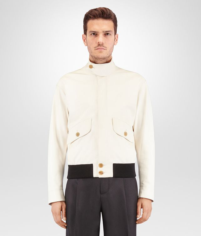 BOTTEGA VENETA LATTE NAPPA BLOUSON Outerwear and Jacket Man fp