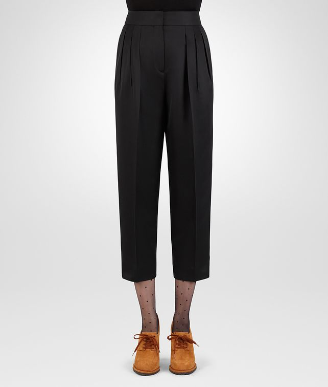 BOTTEGA VENETA NERO WOOL SILK PANT Skirt or trouser D fp