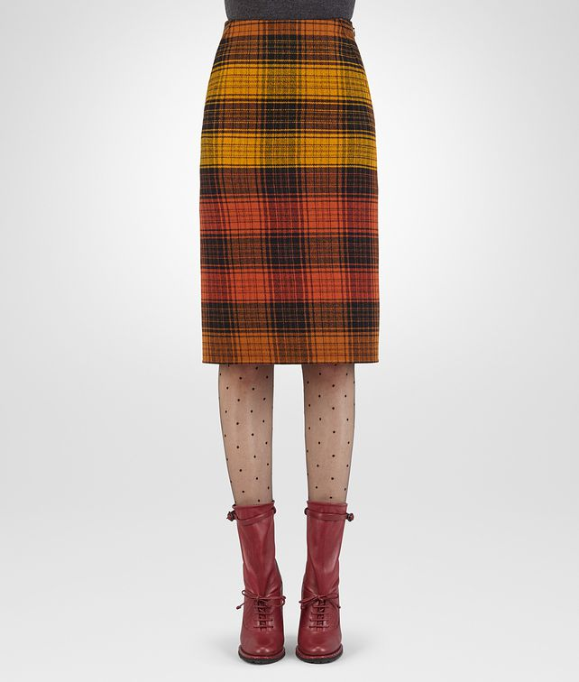 BOTTEGA VENETA MULTICOLOUR WOOL SKIRT Skirt or trouser D fp