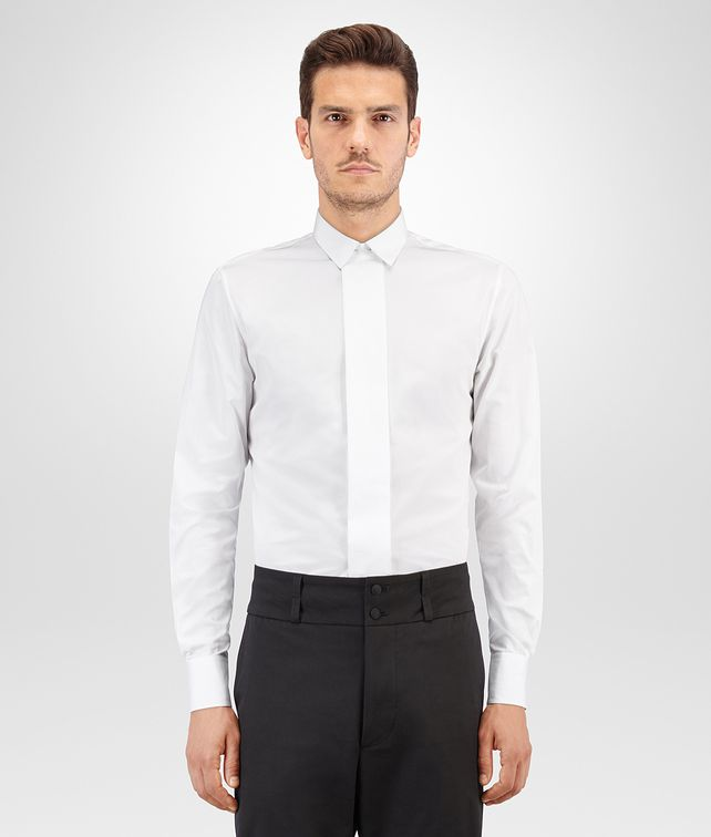 BOTTEGA VENETA BIANCO ORGANIC COTTON TUXEDO SHIRT Formalwear or shirt Man fp