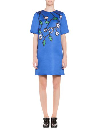 Marni Dress in duchesse Pendant print Woman