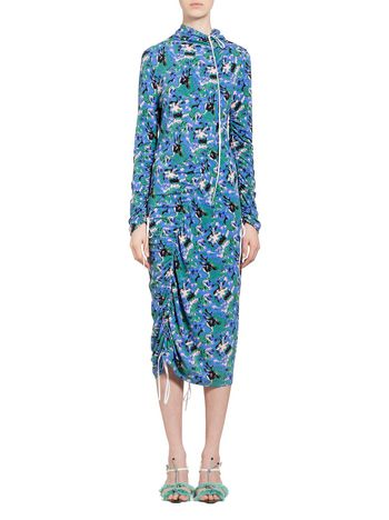 Marni Dress in crepe jersey Acid print Woman