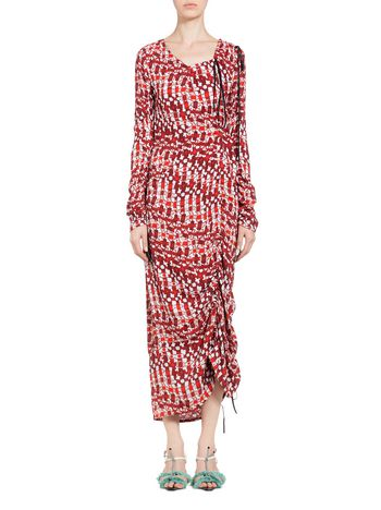 Marni Dress in viscous Psychedelic print Woman