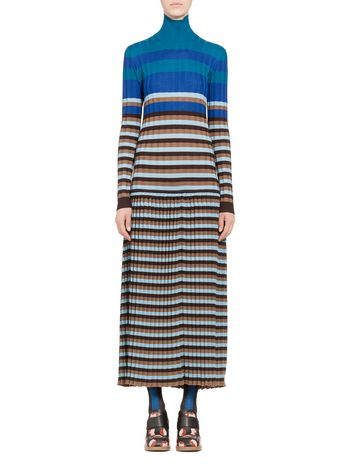 Marni Dress in striped wool Woman