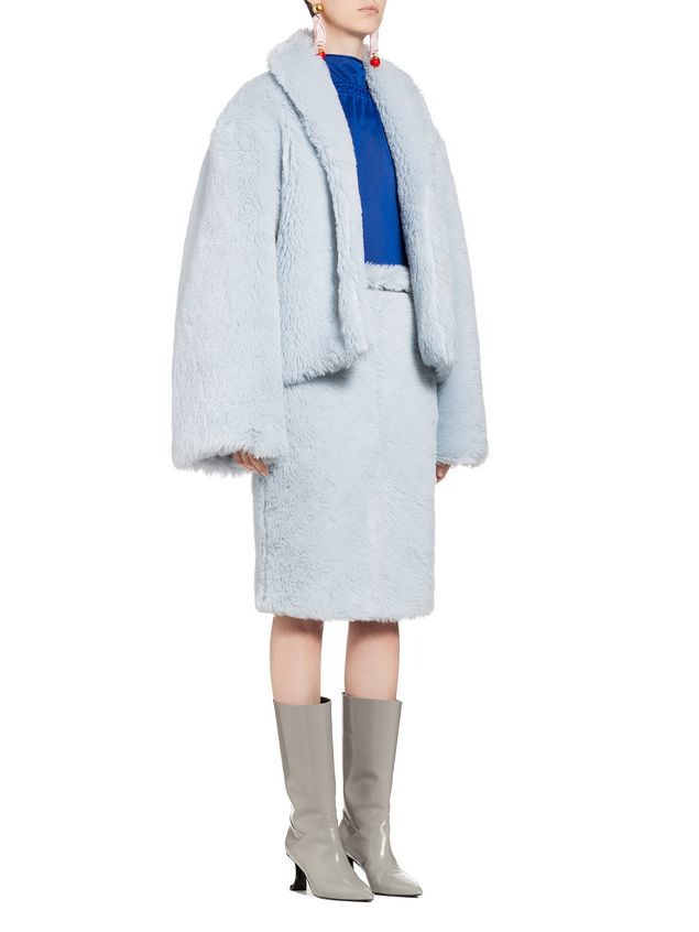 Marni Jacket in diagonal alpaca Woman - 5