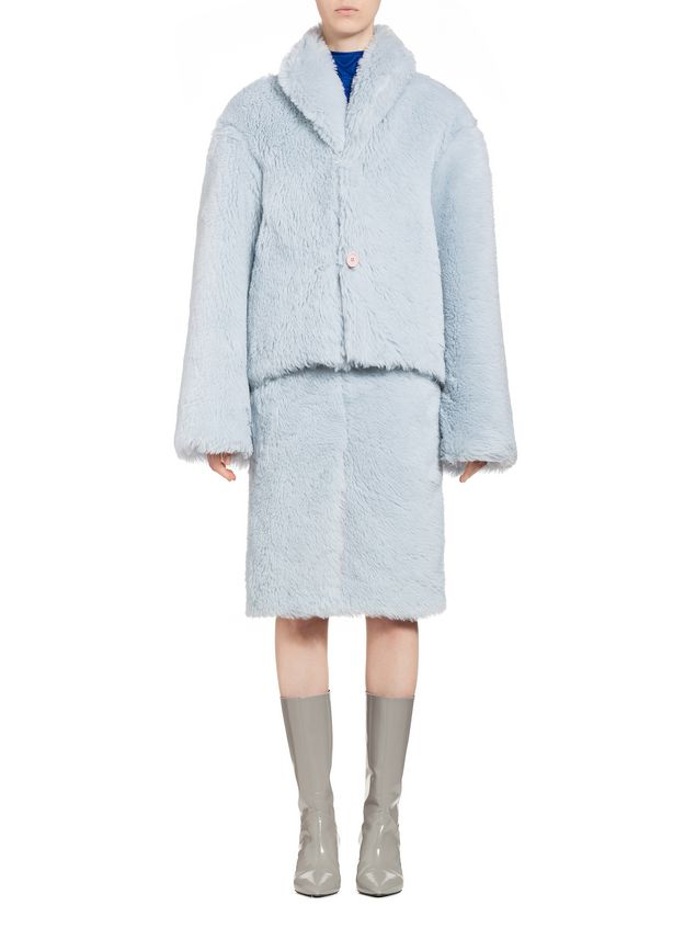 Marni Jacket in diagonal alpaca Woman - 1