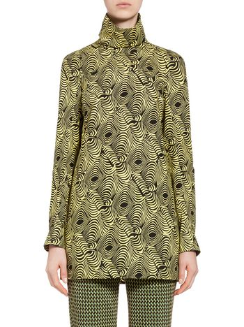 Marni Poplin tunic with Frontiers print Woman