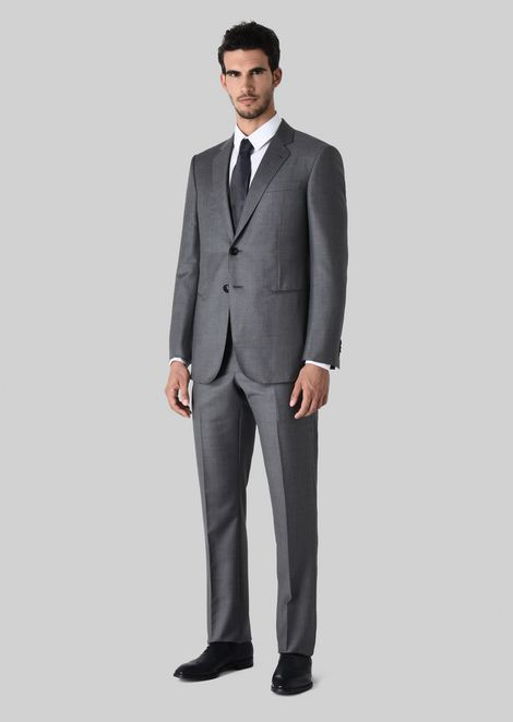 WALL STREET WOOL AND CASHMERE SUIT