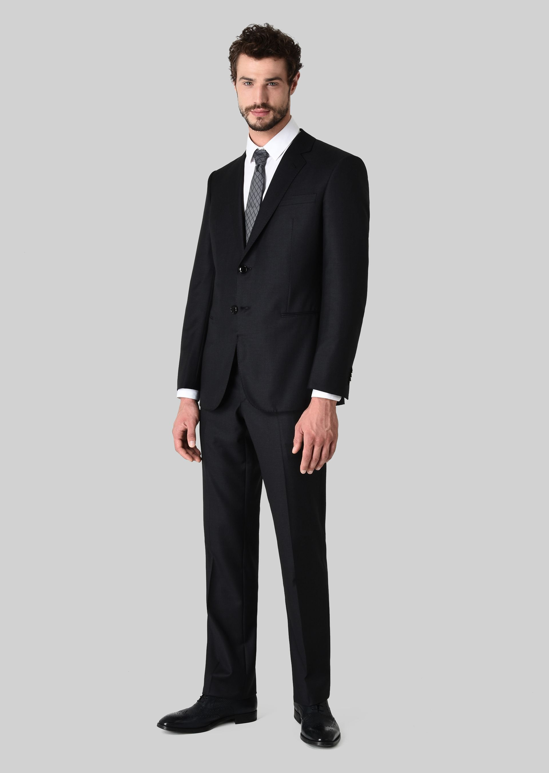 GIORGIO ARMANI WALL STREET WOOL AND CASHMERE SUIT Suit U f
