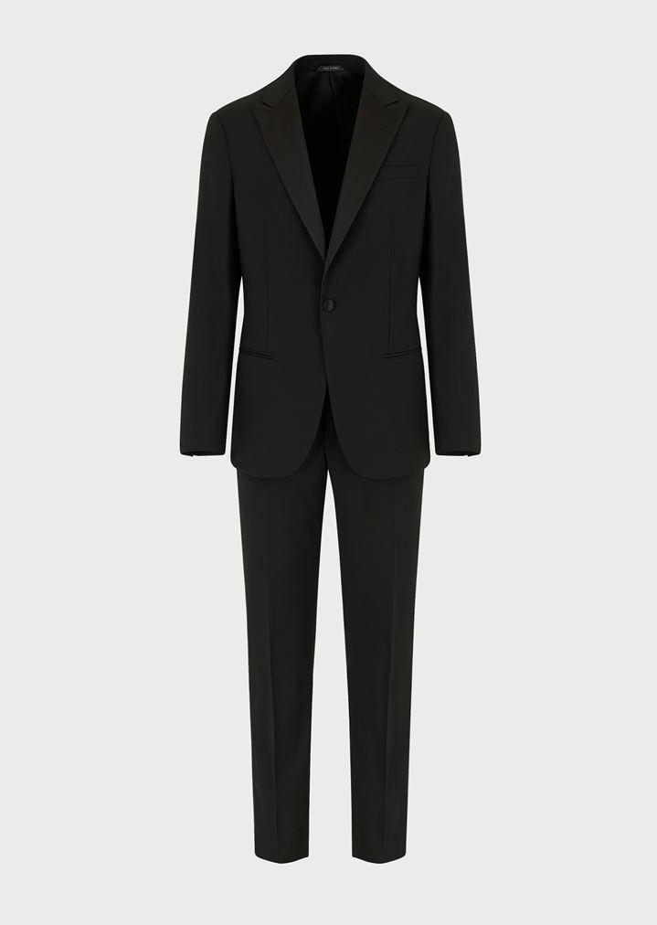 big sale e1b4f 8c608 Tuxedo Linea Soho slim fit half canvas in pura lana