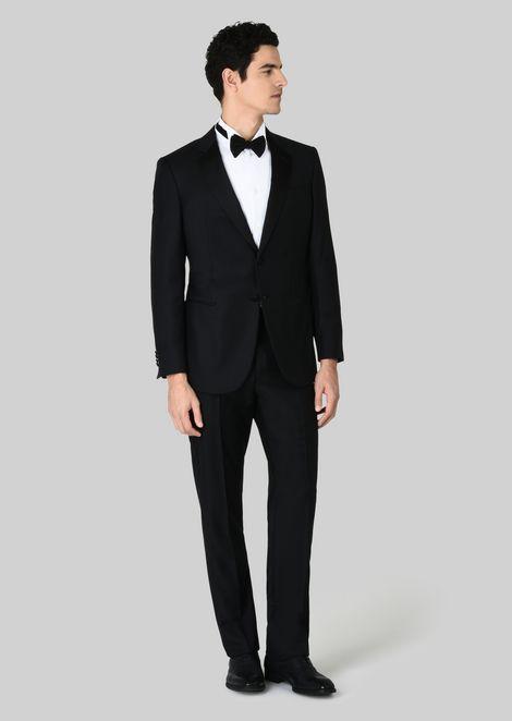 Tuxedo Linea Wall Street comfort fit full canvas in lana e cashmere