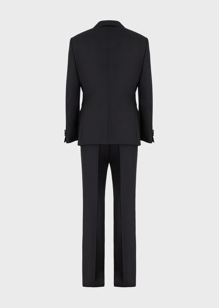 GIORGIO ARMANI WALL STREET WOOL AND CASHMERE TUXEDO  Suit Man b