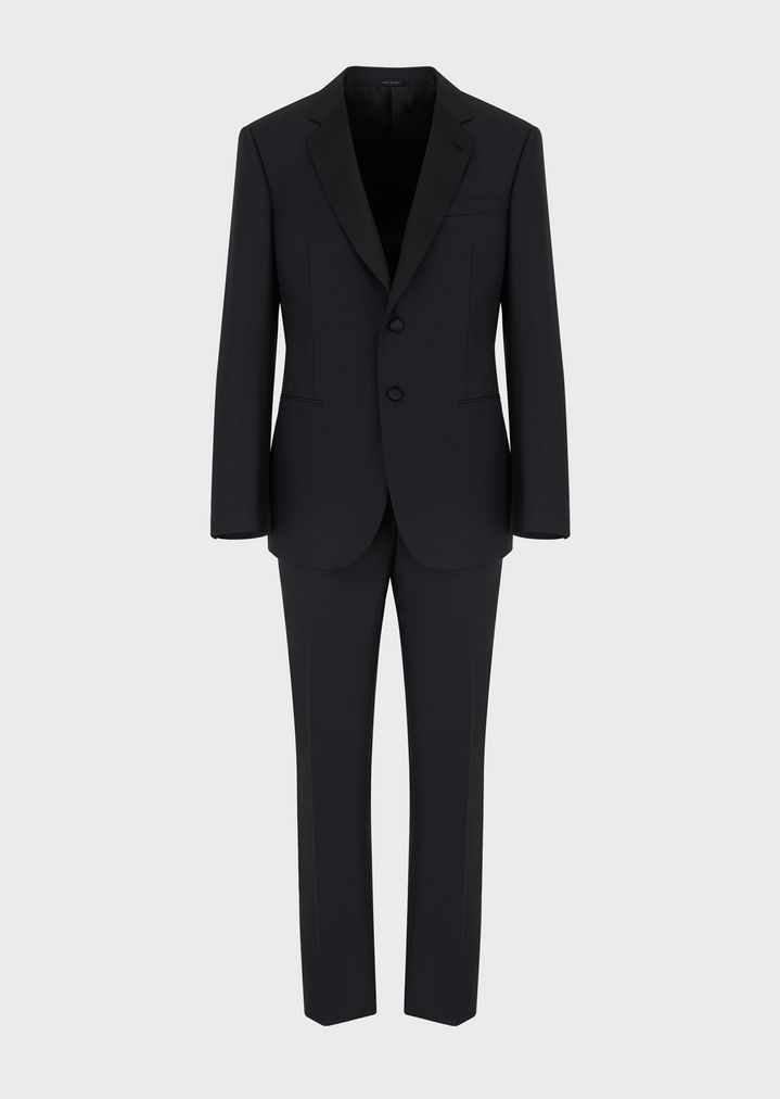 GIORGIO ARMANI WALL STREET WOOL AND CASHMERE TUXEDO  Suit Man d