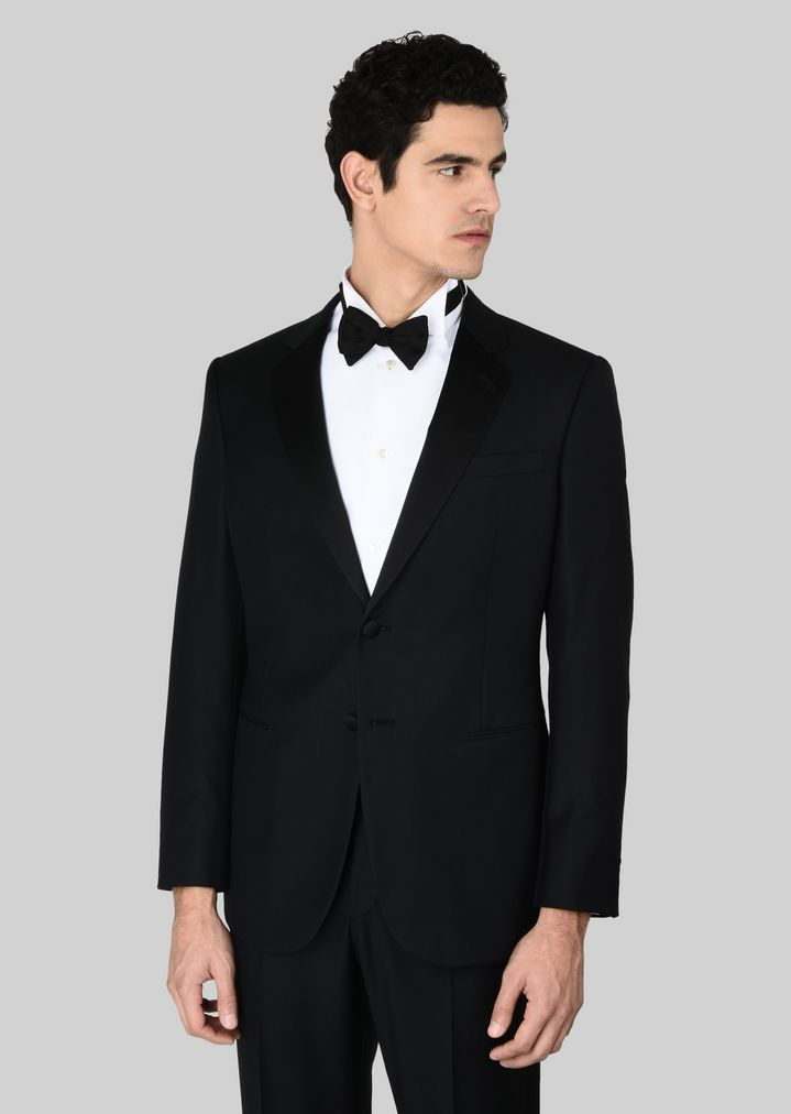 GIORGIO ARMANI WALL STREET WOOL AND CASHMERE TUXEDO  Suit Man r