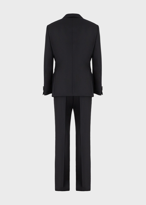 GIORGIO ARMANI WALL STREET WOOL AND CASHMERE TUXEDO  Suit U b