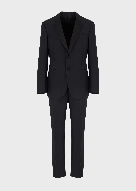 GIORGIO ARMANI WALL STREET WOOL AND CASHMERE TUXEDO   Suit U d
