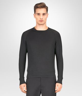 T-SHIRT IN COTONE DARK ARDOISE