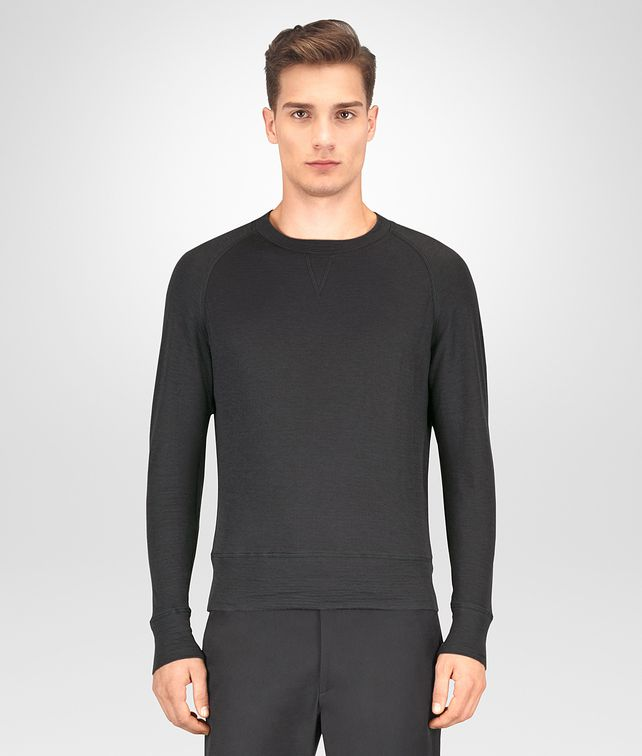 BOTTEGA VENETA DARK ARDOISE COTTON T-SHIRT Polo And Tee [*** pickupInStoreShippingNotGuaranteed_info ***] fp